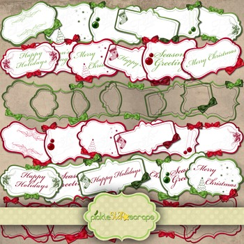 Simply Christmas Megapack Gift Tags Christmas Frames Clip Art Printables
