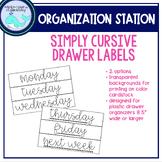 Simply Cursive Organizing Drawer Labels
