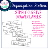 Simply Cursive Organizing Drawer Labels