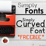 Simply Fonts: Curved Font *FREEBIE*