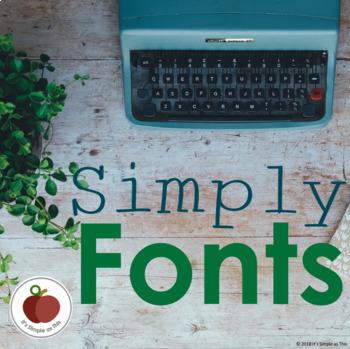 Simply Fonts: A Growing Bundle