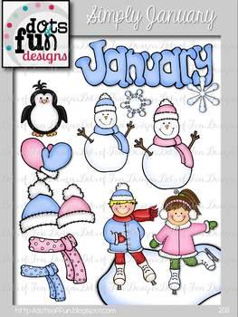 Simply January Clip art