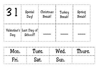 Simply Made Mini Chart Calendar Set