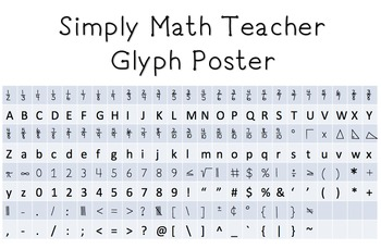 Simply Math Teacher Font