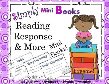 Reading Response to Literature Mini Books: Freebie