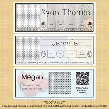 Name Tags - EDITABLE - Fruit Edition - CUSTOMIZABLE - DIFFERENTIATE