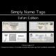 Name Tags - EDITABLE - Safari Edition - CUSTOMIZABLE - DIFFERENTIATE