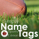 Simply Name Tags - EDITABLE - Sports Edition - CUSTOMIZABL