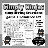 Simply Ninjas – equivalent fractions, simplifying fractions games + resources