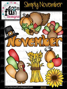 Simply November Clip art