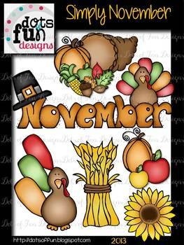 Simply November Clip art
