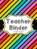 2017-2018 1st Grade Teacher Binder and Lesson Planner - EDITABLE - Rainbow