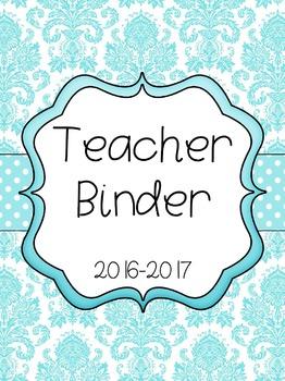 1st Grade Teacher Binder and Lesson Planner (Seafoam / Pas