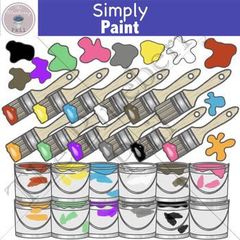 Simply Paint Clip Art Set
