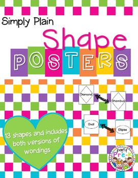 Simply Plain Shape Posters