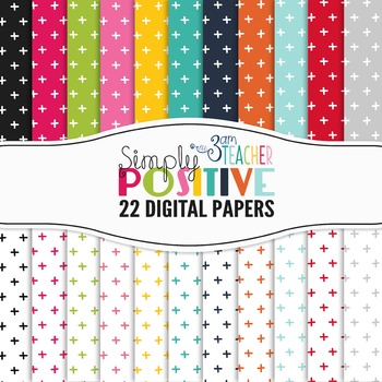 Simply Positive: Digital Papers Set