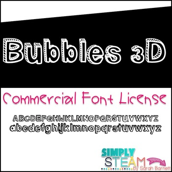 Simply STEAM Bubbles 3D Font License for Personal & Commercial Use