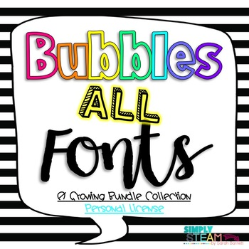 Fonts: GROWING Bundle for Personal {Non-Commercial} Use Si
