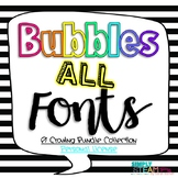 Growing Fonts Bundle Personal {Non-Commercial} Use Bubbles Fonts