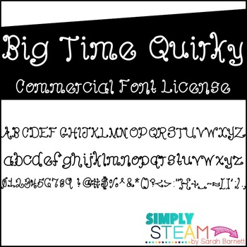 Font: Bubbles Big Time Quirky License for Personal & Comme
