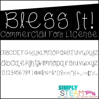 Simply STEAM Bubbles Bless It Font for Personal & Commercial Use