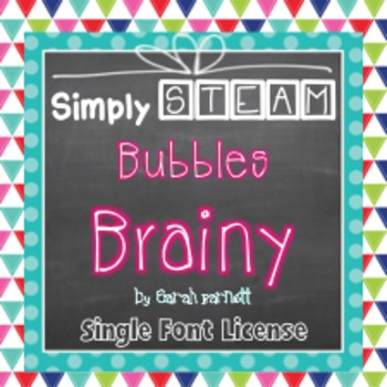 Simply STEAM Bubbles Brainy Font License for Personal & Commercial Use