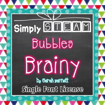 Simply STEAM Bubbles Brainy Font License for Personal & Co