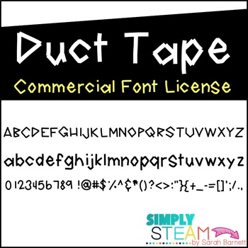 Font: Duct Tape Font for Personal & Commercial Use