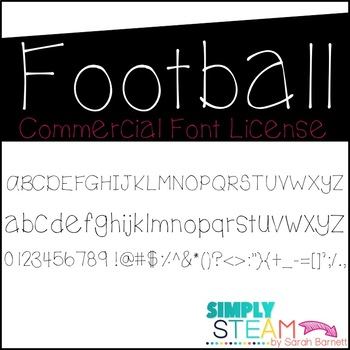 Font: Football Font License for Personal & Commercial Use