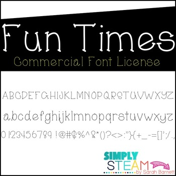 Font: Fun Times Font License for Personal & Commercial Use