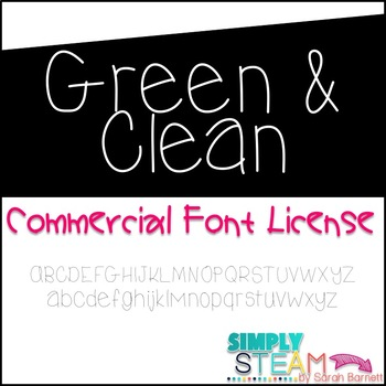 Green & Clean Font License for Personal & Commercial Use