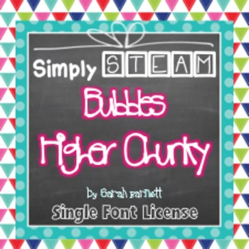 Simply STEAM Bubbles Higher Chunky Font License for Personal & Commercial Use