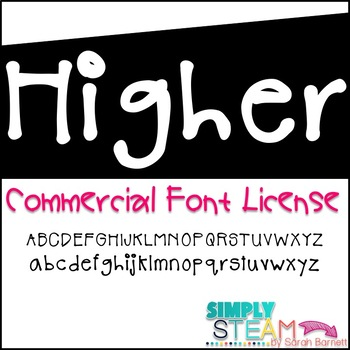 Simply STEAM Bubbles Higher Font License for Commercial & Personal Use