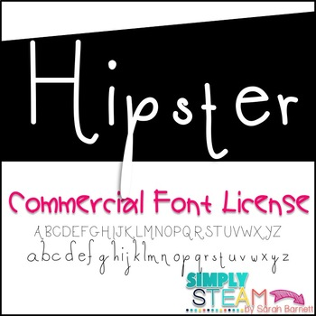 Hipster Font Commercial License