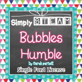 Simply STEAM Bubbles Humble Font for Personal and Commercial Use