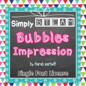 Simply STEAM Bubbles Impression Font License for Personal & Commercial Use