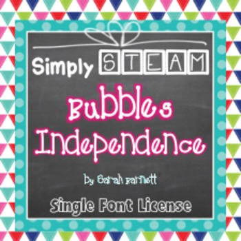 Simply STEAM Bubbles Independence Font License for Personal & Commercial Use