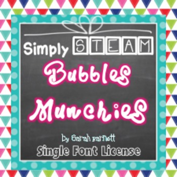 Simply STEAM Bubbles Munchies Font License for Personal & Commercial Use