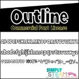 Font - Bubbles Outline {COMMERCIAL LICENSE}