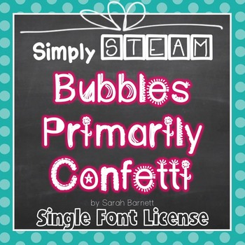 Primarily Confetti Font for Personal & Commercial Use