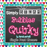 Simply STEAM Bubbles Quirky Font for Personal & Commercial Use