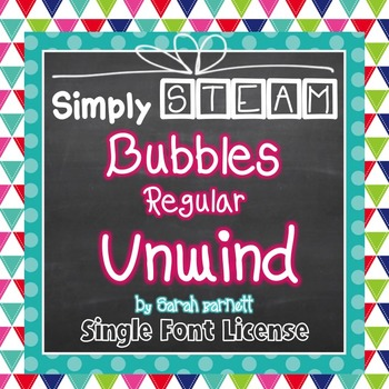 Simply STEAM Bubbles Regular Unwind Font for Personal & Commercial Use
