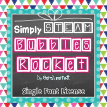Simply STEAM Bubbles Rocket Font for Personal & Commercial Use