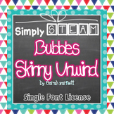 Simply STEAM Bubbles Skinny Unwind Font License for Personal & Commercial Use