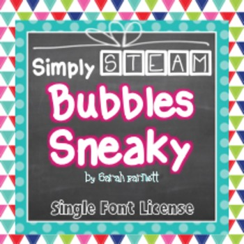 Simply STEAM Bubbles Sneaky Font for Personal & Commercial Use