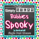 Simply STEAM Bubbles Spooky Font License for Personal & Commercial Use
