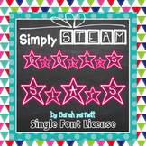 Simply STEAM Bubbles Stars Font License for Personal & Commercial Use