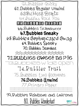 Bubbles Fonts Commercial License A Growing Bundle