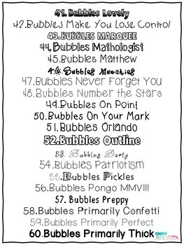 Bubbles Fonts Commercial License A Growing Bundle