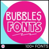Fonts: Bubbles Bundle ALL Fonts Commercial License {Growin